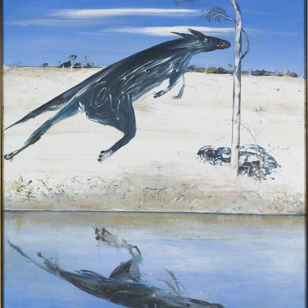Arthur Boyd, Reflected kangaroo c 1976, oil on canvas