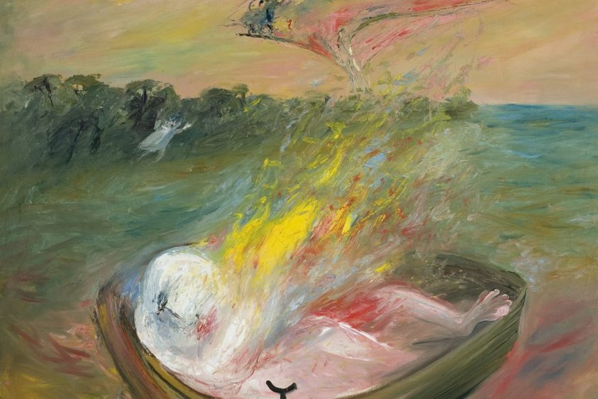 Abstract painting by Arthur Boyd