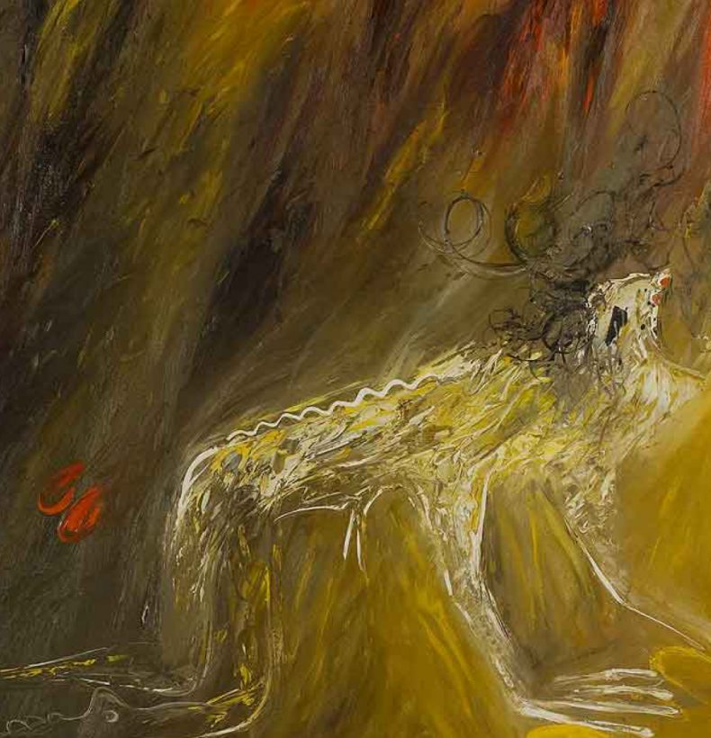An abstract painting by Arthur Boyd