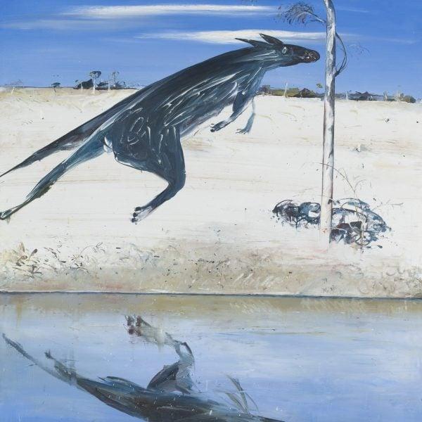 Arthur Boyd, 'Reflected kangaroo', c1976, oil on canvas